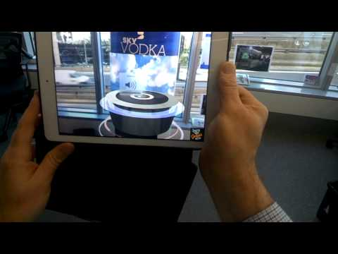 Augmented Reality Retail POS - KALIDO + Blue Star Display (filmed with Google GLASS)