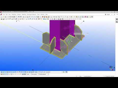 Portal frame modelling and grid creation in TEKLA Structures