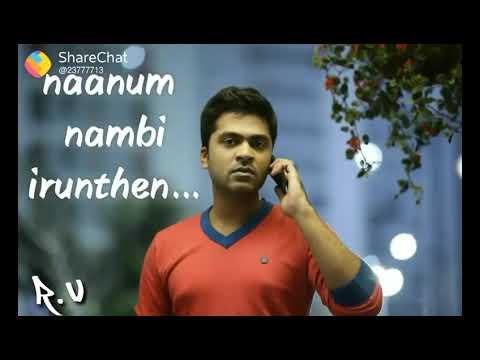 Konjam Naal Mattum Tha Ava Kuda Erutha.....Simbu Sad Love Song New WhatsApp Status