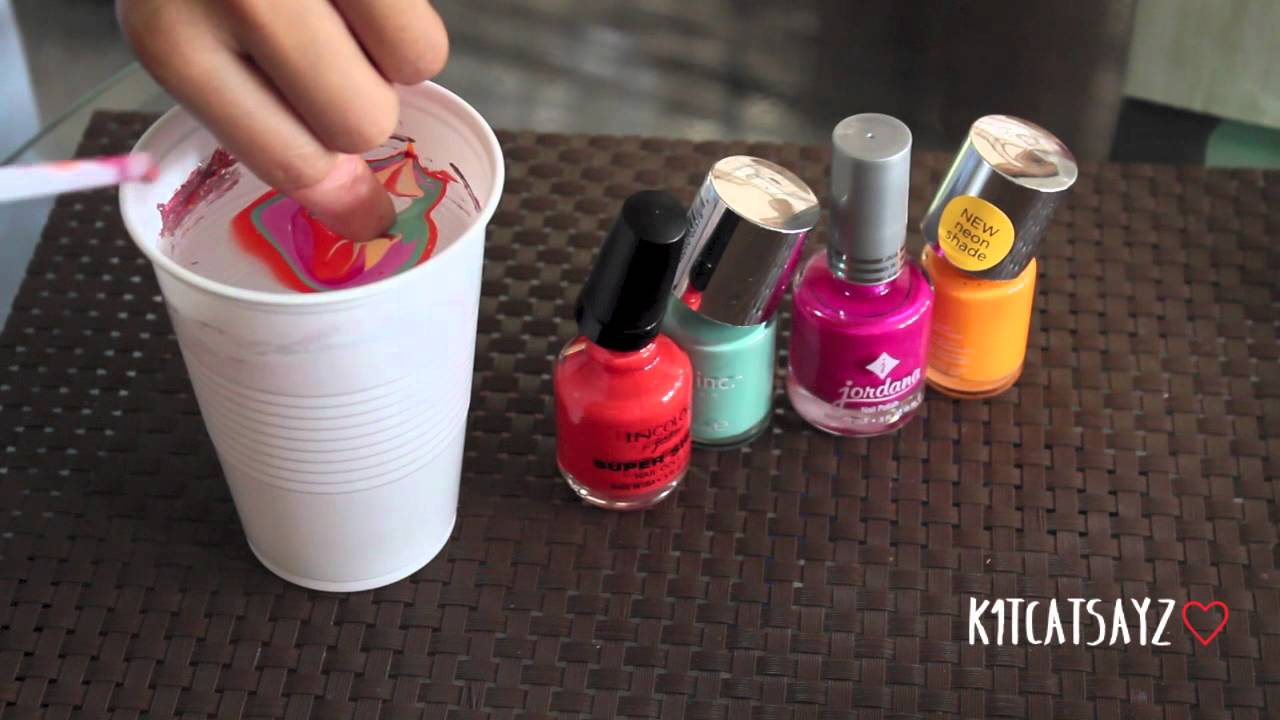 Tutorial Funky Tie Dyemarble Inspired Nails Youtube