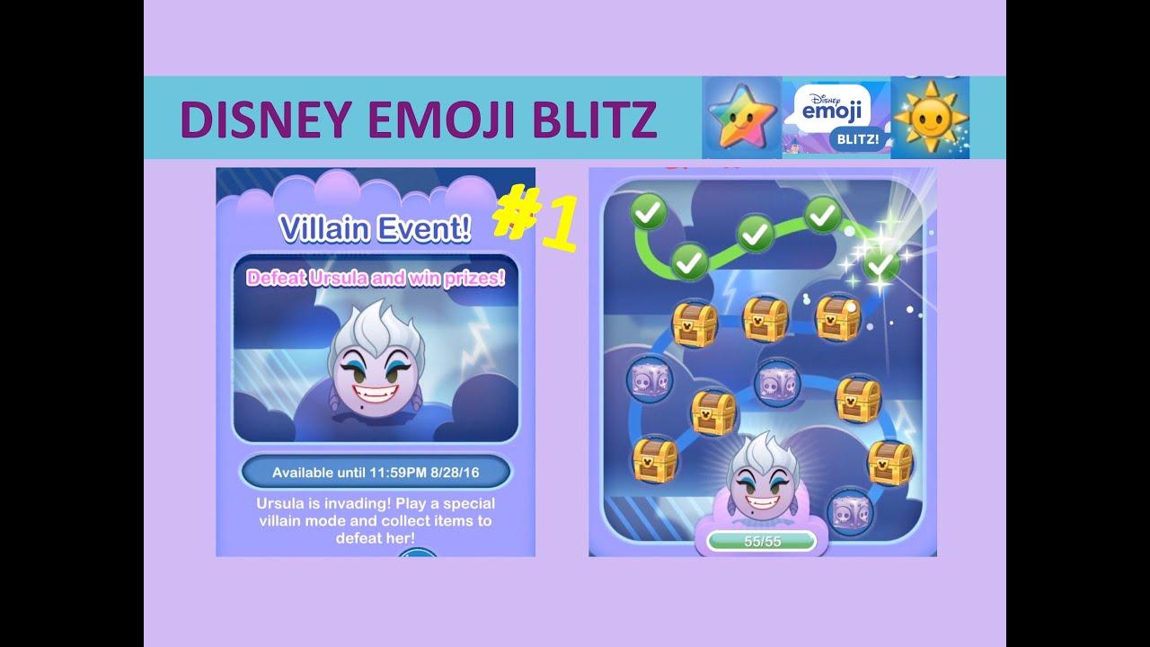 Disney Emoji Blitz Villain Event Ursula Intro And Treasures 1 5