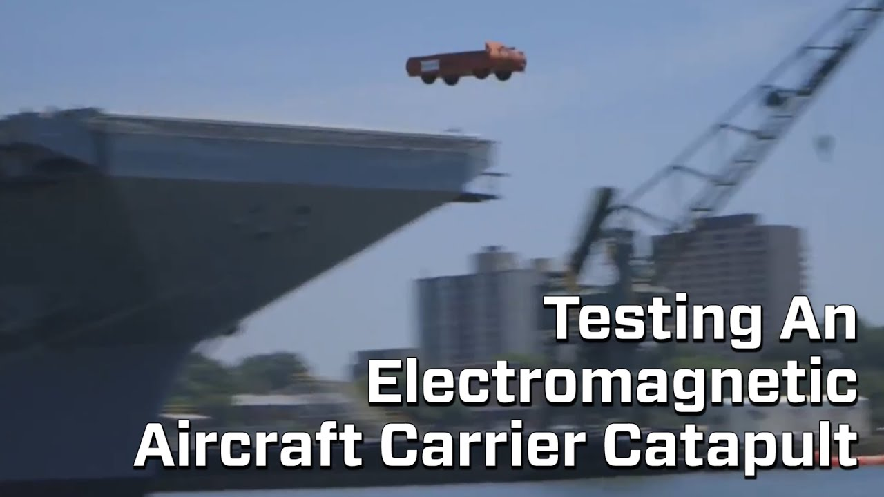 New Electromagnetic Air Craft Carrier Catapult Tested