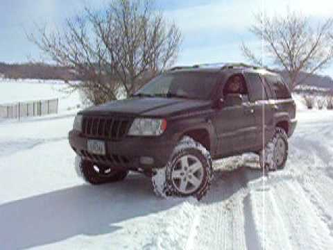 Lifted Jeep Cherokee >> Jeep Grand Cherokee WJ in the snow - YouTube