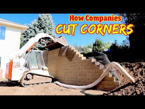 How To Build an Engineered Retaining wall & Avoid Contractors that cut corners