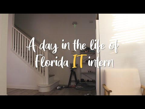 A day in the life of Florida IT intern/플로리다 IT 인턴 Vlog