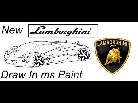 How To Draw Lamborghini Terzo Millennio Easily In Ms Paint M