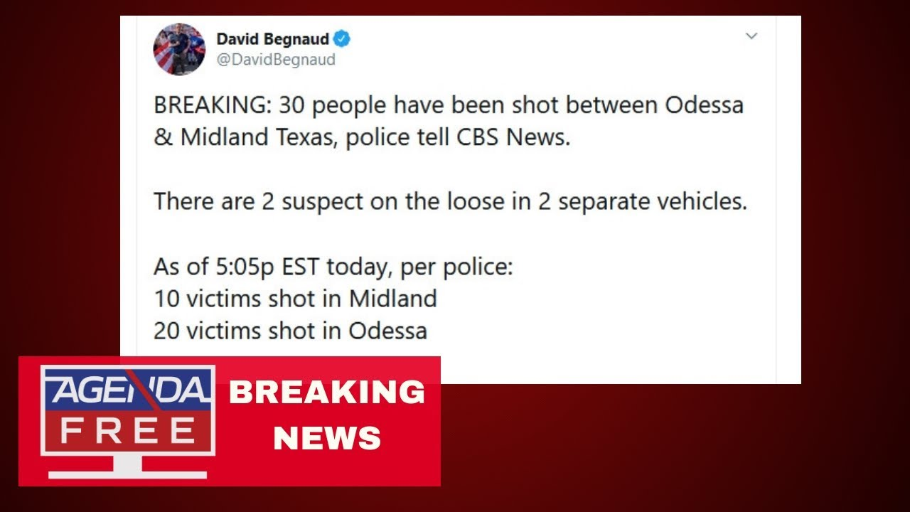 Over 20 Shot in Odessa & Midland Texas - LIVE BREAKING NEWS COVERAGE