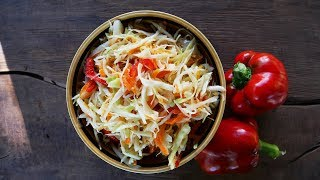 Маринованная капуста за сутки рецепт, Вкусный и быстрый салат на каждый день!