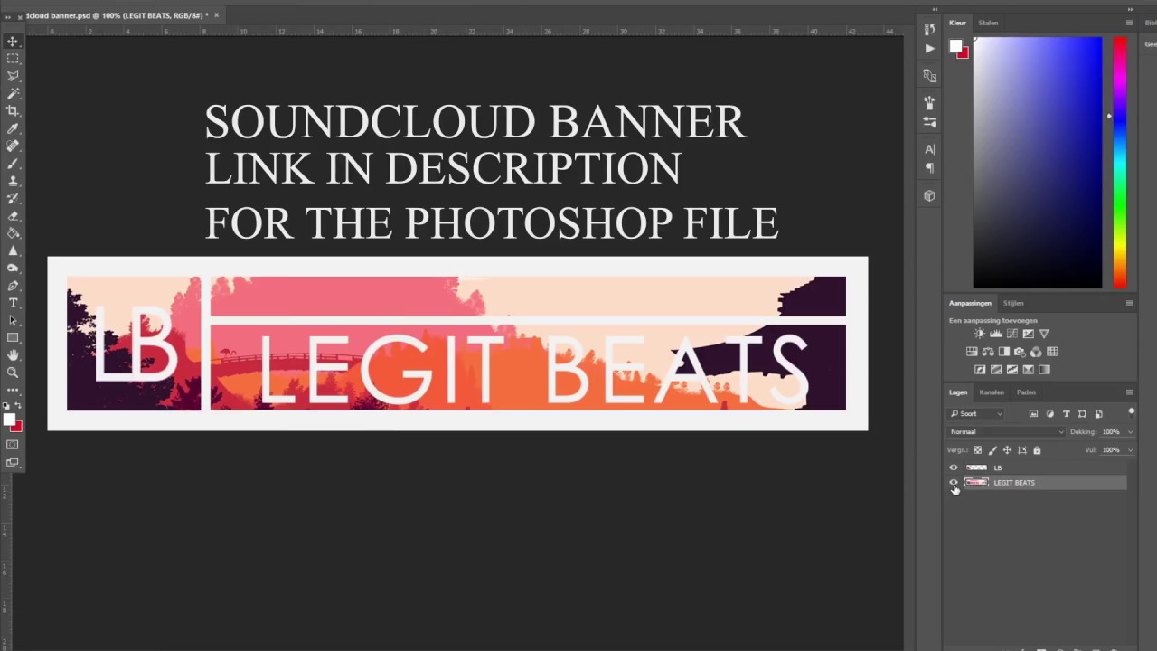 free soundcloud banner psd template tutorial youtube. Black Bedroom Furniture Sets. Home Design Ideas