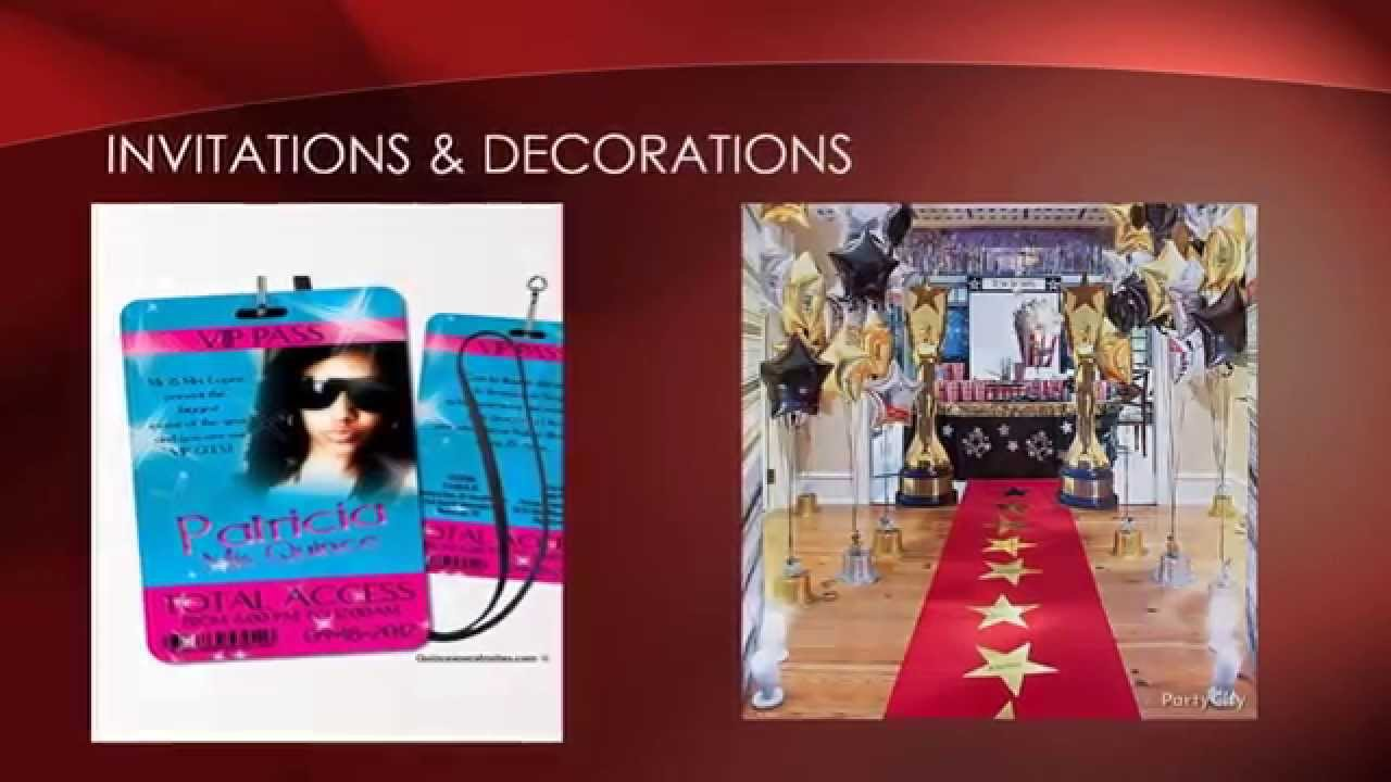 Red carpet quinceanera theme by My Quinceanera YouTube