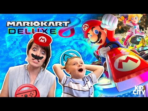 Mario Kart 8 Deluxe Challenge For NINTENDO SWITCH! Games & Family Fun!