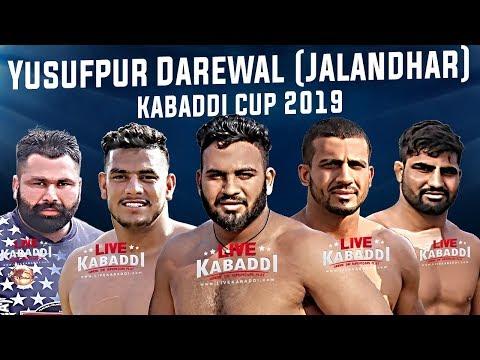 🔴LIVE - Yusufpur Darewal (Jalandhar) Kabaddi Cup 2019
