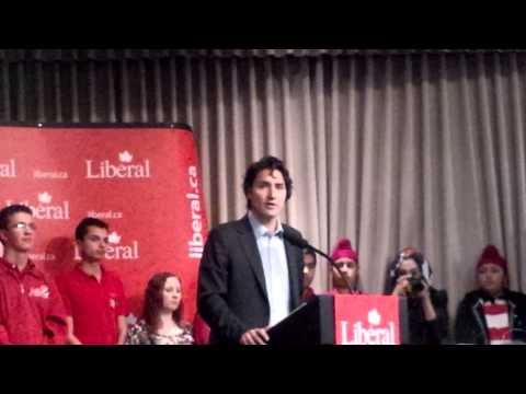 Justin Trudeau giving Canadian Politics back to Canadians.  Calgary October 30, 2013.