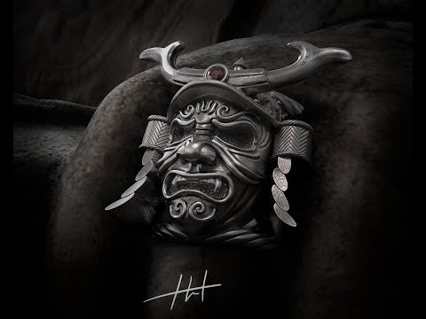 Zbrush  Jewelry Ring Sculpting SPEED TUTORIAL   (Samurai Mask) урок моделирования ювелирного кольца