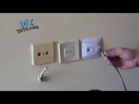 How to install or to replace a Phone Jack Outlet | How to Change a Telephone  Wall Jack | Phone Jack - YouTubeYouTube