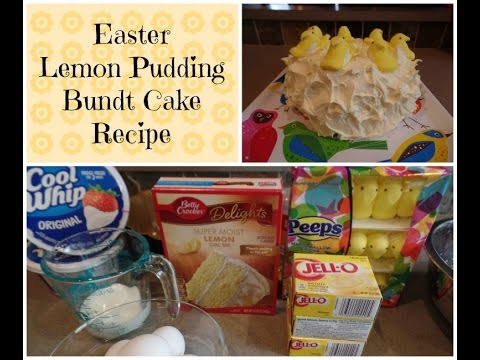 Easy Easter Lemon Pudding Bundt Cake Recipe