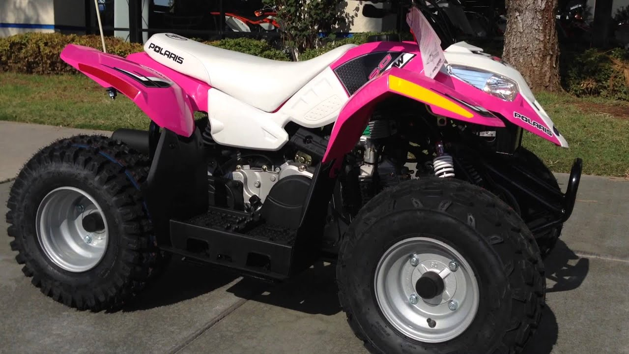 Polaris Outlaw 50 >> 2015 Polaris Outlaw 50 Pink - YouTube