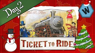 Day 2 | Ticket To Ride | 12 Games of Wonderment