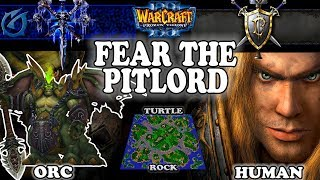 Grubby | Warcraft 3 TFT | 1.30 | ORC v HU on Turtle Rock - Fear the Pitlord!