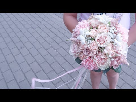 Букет невесты из живых цветов своими руками пошагово видео