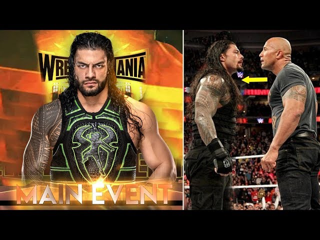 Roman Reigns in MAIN EVENT Wrestlemania 35 ? The Rock On Roman Reigns Return ! Wrestlemania 35 Match