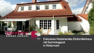 Exklusives freistehendes Einfamilienhaus mit Schwimmbad in Rödermark-Urberach + Immobilienfilm +