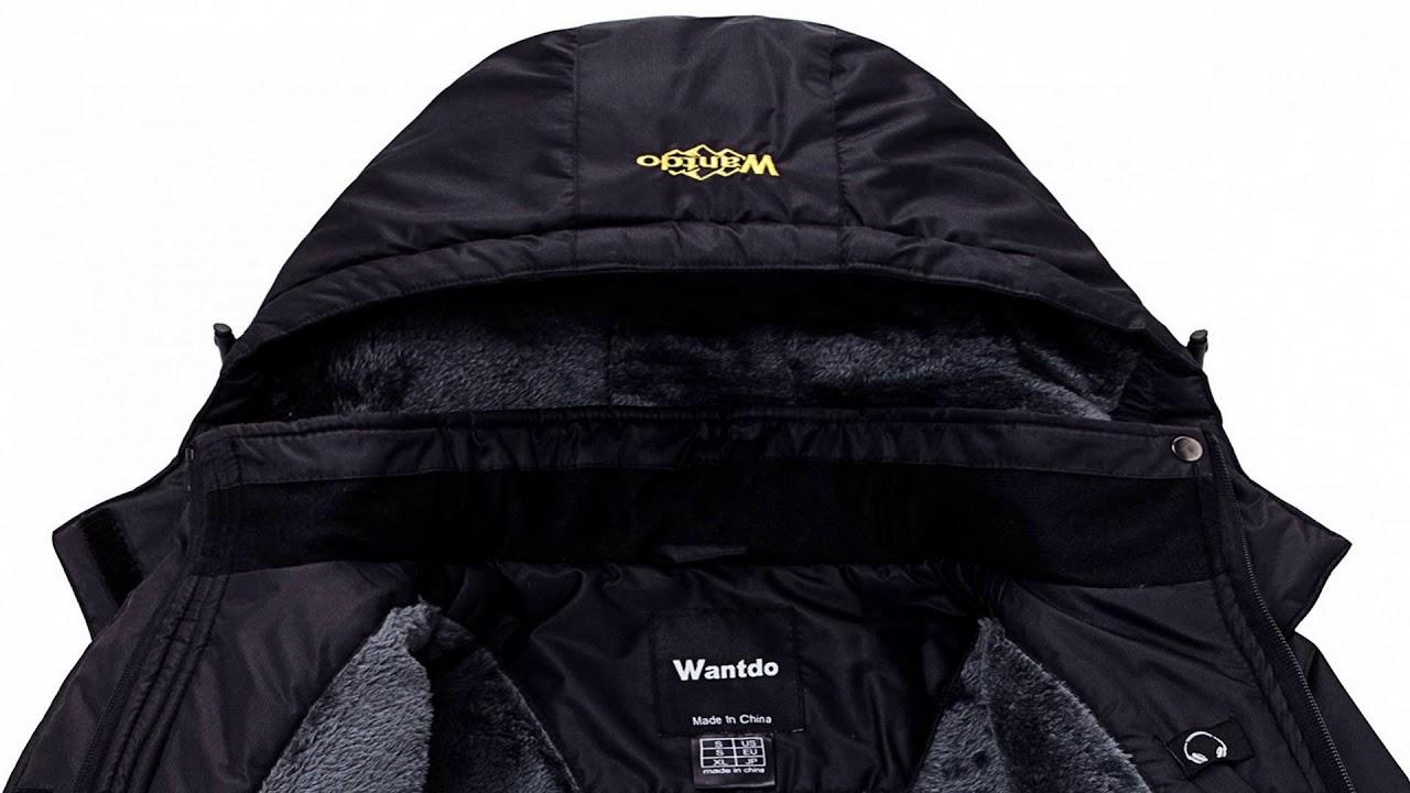 Wantdo Women  039 s Mountain Waterproof Fleece Ski Jacket Windproof Rain  Jacket b4e823b47