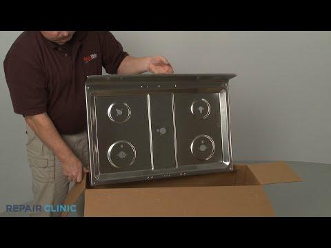 Main Cooktop - Kitchenaid Double Oven Gas Range (Model #KFGD500ESS04)