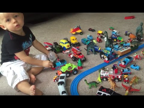SURPRISE EGGS MONSTER TRUCKS Dinosaurs COLORS Hot Wheels Trains Animals Dinosaurs