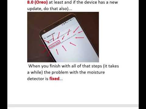LG G6 Moisture Detect FIX, Charge Problem FIX