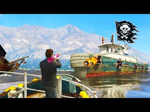 GTA 5 NEW EPIC PIRATE JOB - ATTACK & PILLAGE THE BOUNTY - GTA5 ONLINE Funny Moments w/ The Crew