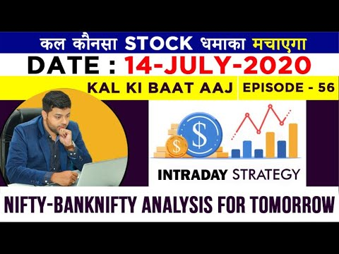 Intraday Trading Strategy for 14th July | Ep-56 | Advance Intraday #Nifty & #Banknifty Level from YouTube · Duration:  12 minutes 35 seconds