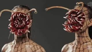 (Ai thấy sẽ chết ngất)Cách trang điểm mặt quỷ trong phim kinh dị và lễ halloween