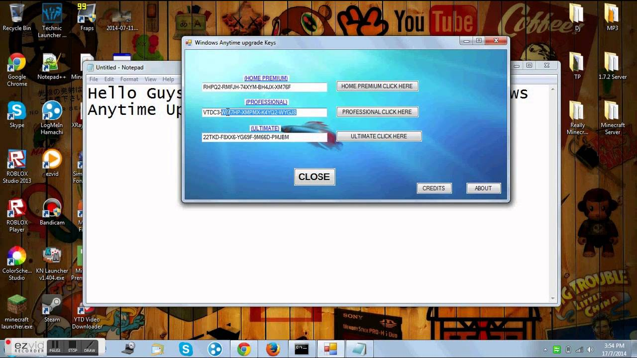 latest windows 7 anytime upgrade key