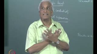 Mod-01 Lec-12 The Concept of Phonons