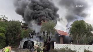 San Diego: Arson House Fire with Man Inside 06052018