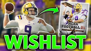 Creating a Perfect EA College Football Game: WISHLIST!