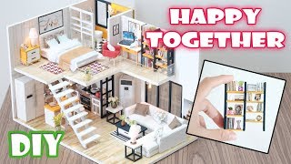 Diy Miniature Dollhouse Kit || Happy Together   With Full Furniture And Light