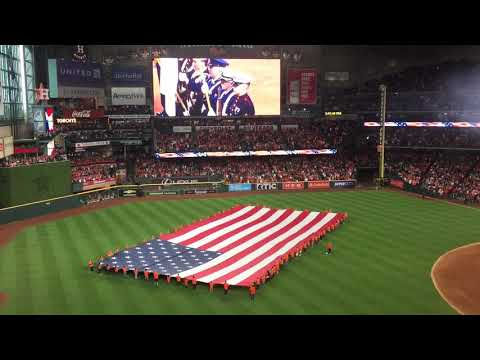 Cody Johnson sings National Anthem - Houston Astros Game 3