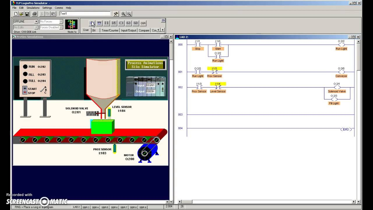 Ladder Diagram Simulator Content Resource Of Wiring Ruud 024jaz Upmc Logixpro Silo Simulation Turn On Cc Youtube Freeware Logic