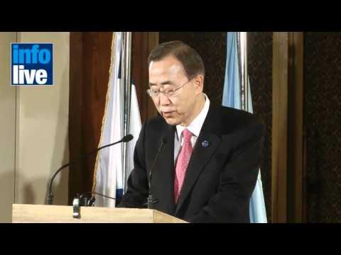 Ban Ki-moon solicita a Israel «gestos de buena voluntad» hacia Palestina
