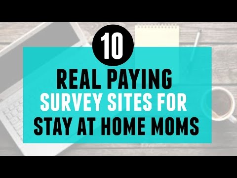 10 Real Paying Survey Sites for Stay at Home Moms
