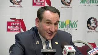 Mike Krzyzewski on Duke's buzzer beater win over FSU