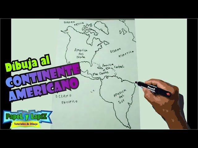 Cómo dibujar fácil el mapa de América, continente - maps