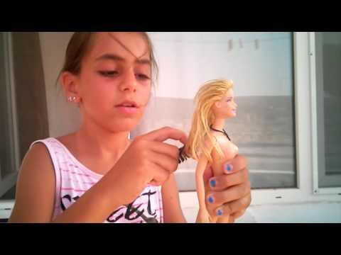 Barbie Bebeğin Saç Kesimi (mutsuz Son) 😂😂😕😢