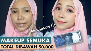 UNDER 50K FULL FACE MAKEUP. SUMPAH MURAH BANGET!!