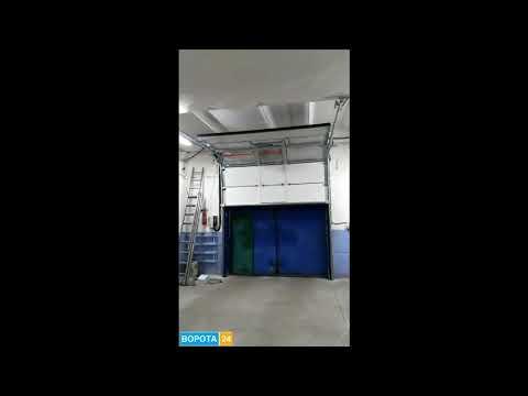 Роллетные ворота на гараж Одесса - VOROTA24.COM.UA - YouTube
