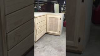 Blind corner cabinets, cart and drawers