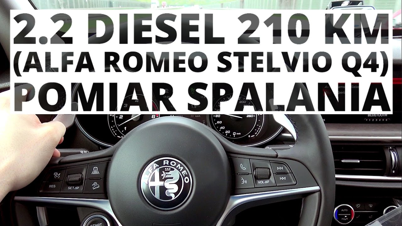 Alfa Romeo Stelvio Q4 2.2 Diesel 210 KM (AT) – pomiar zużycia paliwa