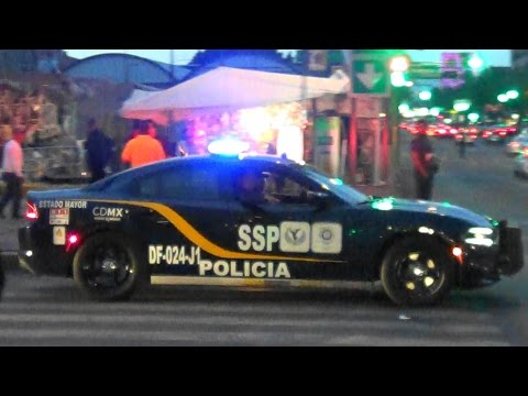 Mexico City Police (SSP CDMX) NEW CHARGER, unit DF-024-J1 RESPONDING!